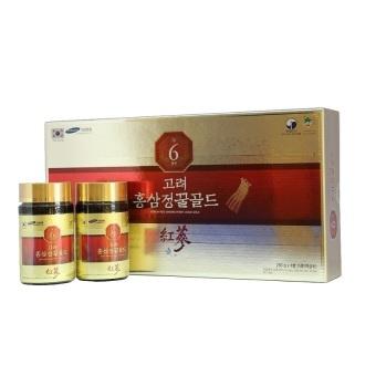 Hộp 4 lọ cao hồng sâm Hanil Industry Red Ginseng Honey Liquid Gold250g