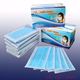 Hộp 50 cái khẩu trang y tế kháng khuẩn 4 lớp lọc (Xanh) (Phân Phốibởi: YTELOC)