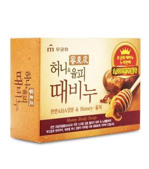 Xà bông tắm tẩy tế bào chết Mukunghwa (Mật ong và Hạt dẻ)