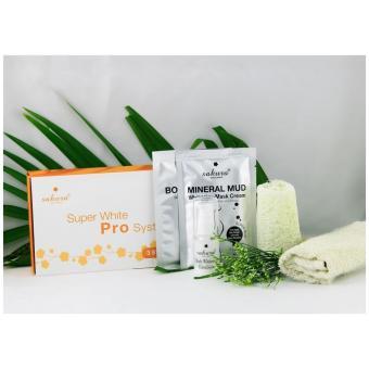 Bộ kem tắm trắng 7 in 1 Sakura Super White Pro System (Cam)