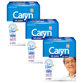 Bộ 3 gói tã dán người lớn Unicharm Caryn M/L10 10 miếng