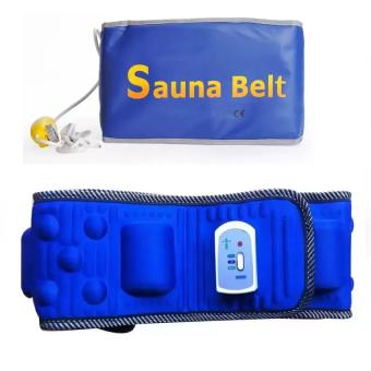 Bộ đai massage giảm mỡ bụng x5 và đai massage sauna belt (Xanh)