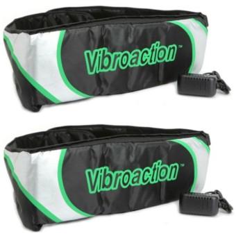 Bộ 2 Đai massage thon gọn bụng Vibroaction (Đen)