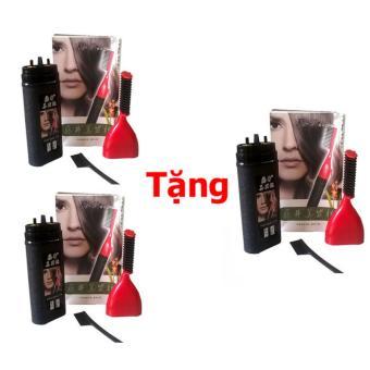 Bộ 2 lược nhuộm tóc thông minh Teng Jing + Tặng lược nhuộm tóc thông minh Teng Jing (Đen)
