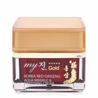 Kem dưỡng trắng da chống lão hóa My gold Korea Red Ginseng Aqua Wrinkle Whitening Cream 50ml