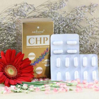 Viên uống Collagen Sakura CHP Ehanced Beauty Nutraceuticals 60 viên (Nâu)