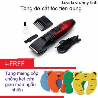 Combo tông đơ cắt tóc trẻ em tiện dụng + Free 1 xốp chống kẹt cửa giao màu ngẫu nhiên