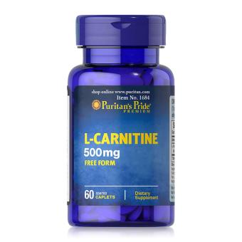 Viên uống hỗ trợ giảm cân không tác dụng phụ, giúp cơ thể săn gọn, hỗ trợ chức năng thận Puritan's Pride L-Carnitine 500mg 60 viên