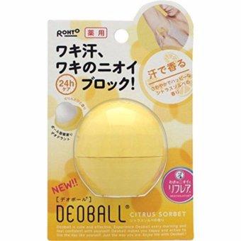 Lăn khử mùi Rohto DEOBALL Deodorant Citrus Sorbet 24h 15g - Nhật Bản