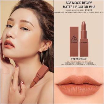 Son lì 3CE Mood Recipe Matte Lip Color #116 Inked Heart