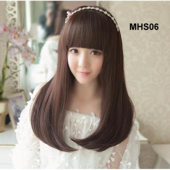 Bộ tóc cúp siêu cute mái ngang.(đen) TG-06