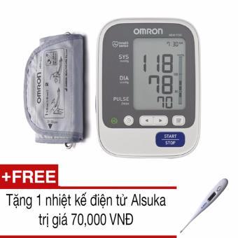 Máy đo huyếp áp bắp tay Omron HEM-7130 (Trắng)+Tặng 1 nhiệt kế Alsuka