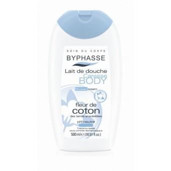 Sữa tắm dưỡng ẩm và trắng mịn Byphasse Shower Cream Cotton Flower 500ml