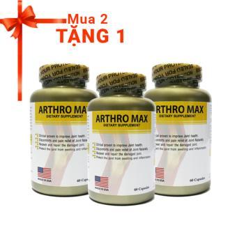 Bộ 2 Viên giảm đau xương khớp Arthro Max 60 viên + Tặng 1 sản phẩm cùng loại