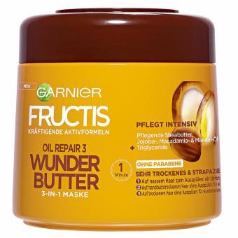 Kem ủ tóc Garnier Oil Repair 3 Wunder Butter 300ml