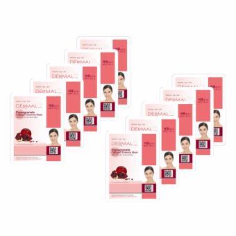 Bộ 10 x Mặt nạ dưỡng da tinh chất lựu Dermal Pomegranate Collagen Essence Mask 23g