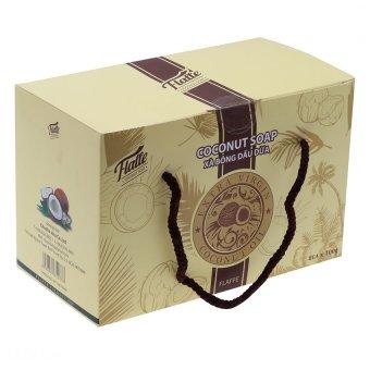 Bộ 8 xà phòng dầu dừa Flaffe Coffee Coconut Soap 100g