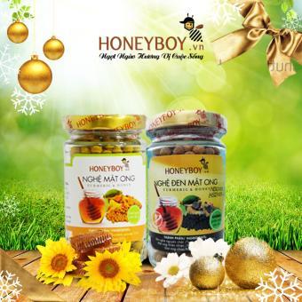 Bộ Nghệ vàng mật ong Honeyboy 80g và Nghệ đen Mật ong Honeyboy 80g