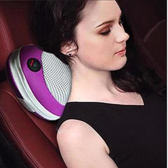 Gối mat-xa hồng ngoại Massager Pillow PL-819 (Trắng phối tím)