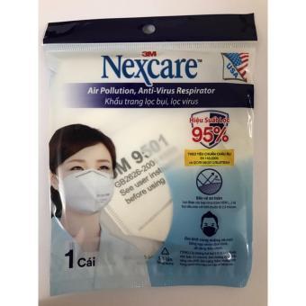 Bộ 10 khẩu trang lọc bụi siêu nhỏ, lọc virus 3M Nexcare N9501