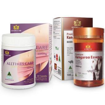 Bộ 1 hộp Viên uống tăng cường sinh lực nam giới Alltimes Care Kangaroo Essence 6000mg + 1 hộp Viên uống giảm cân Alltime Care 60v