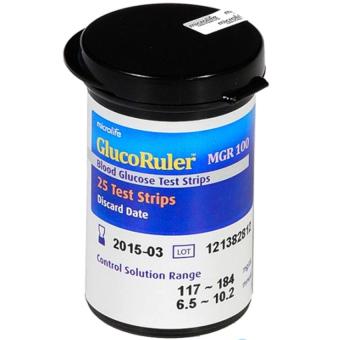 Hộp 25 que thử đường huyết Microlife GlucoRuler MGR100
