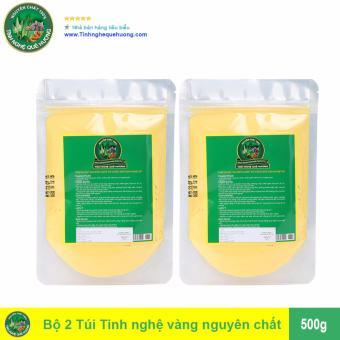 Bộ 2 Túi Tinh bột nghệ vàng Tinh Nghệ Quê Hương 500g (Trắng)