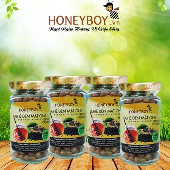 Bộ 4 Nghệ Đen Mật Ong Honeyboy 80g
