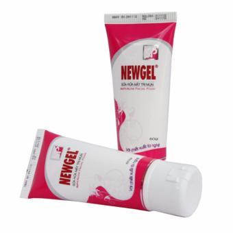 Bộ 2 sản phẩm sữa rửa mặt sạch mụn NEWGEL tẩy sạch bụi bẩn các chất cặn bả trên da mặt 50g