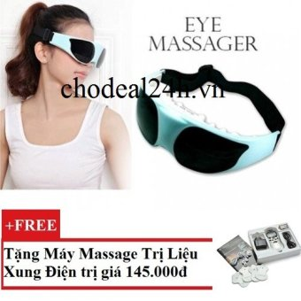 Máy Massage mắt healthy eyes + Tặng Máy mát-xa xung điện trị liệu SYK 208 4 miếng dán (Trắng)