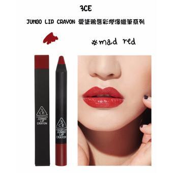 Son bút chì siêu mềm môi 3CE Jumbo Lip Crayon #Mad Red - Sắc đỏ hoàn hảo