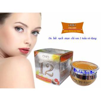 Kem trị Mụn - Trắng da - Xóa thâm - Liền sẹo 12 tác dụng OHIO Collagen - Đông Trùng Hạ Thảo (30g)