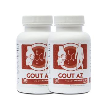 Bộ 2 hộp Gout AZ hỗ trợ điều trị bệnh gout 30 viên x 2