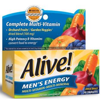Thực Phẩm Bảo Vệ Sức Khỏe Alive! Men's Energy 50 tabs