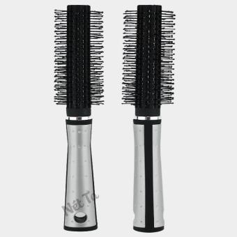 Lược tròn tạo kiểu tóc chuyên nghiệp (Đen phối bạc)