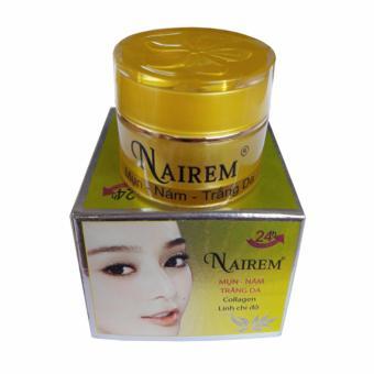 Kem trị mụn, xóa nám, trắng da dưỡng chất Collagen và Linh chi đỏ Nairem (12g)