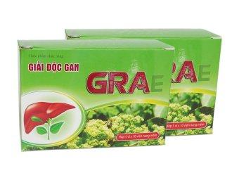 Bộ 2 hộp thực phẩm chức năng giải độc gan GRAe Vioba hộp 5 vỉ x 10 viên (Xanh)