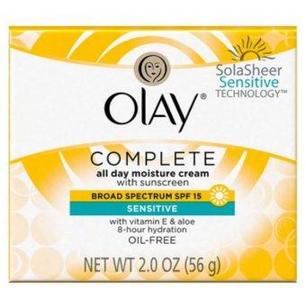 Kem Dưỡng Ẩm Và Chống Lão Hóa, Chống Nắng Cho Da Nhạy Cảm Olay Complete All Day Moisturizer With Sunscreen SPF 15