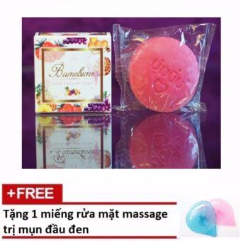 Xà bông kích trắng BUMEBIME Thái Lan + Tặng 1 miếng rửa mặt massage trị mụn đầu đen
