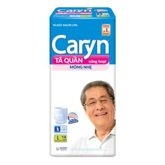 Tã quần năng hoạt Caryn L14 14 miếng