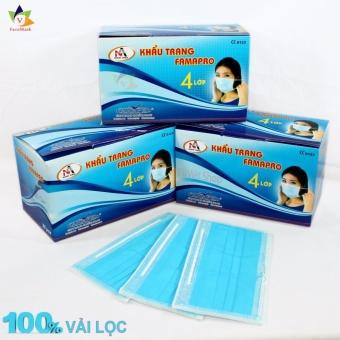 Bộ 3 hộp khẩu trang y tế kháng khuẩn cao cấp - 4 lớp lọc (Xanh)