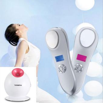 Máy chăm sóc da nóng lạnh massage Brand + máy xông mặt Kingdom KD233