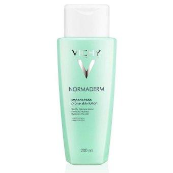 Nước cân bằng làm mềm da sát khuẩn và se khít lỗ chân lông Vichy Normaderm Lotion 200ml