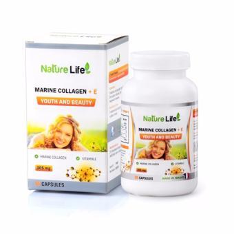 Viên uống đẹp da của Pháp Natural Life Marine Collagen và Vitamin E 60 VIên