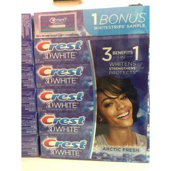 Lốc 5 hộp kem đánh răng Crest 198g + tặng 1 miếng dán trắng răng