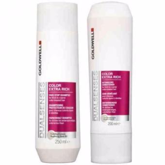 Bộ 2 chai Dầu gội và dầu xả dành cho tóc nhuộm Goldweel Color Extra Rich 250 ml + 200 ml