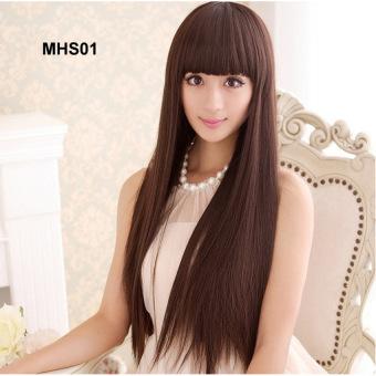 Bộ tóc thẳng hạt dẻ dễ thương