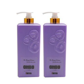 Bộ 2 chai sữa tắm OMIO chống nắng dưỡng da tinh chất hoa hồng 800ml (Tím)