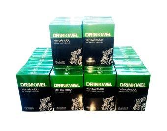 Bộ 50 hộp Viên giải rượu Vioba DRINKWEL vỉ 4 viên (Đen)