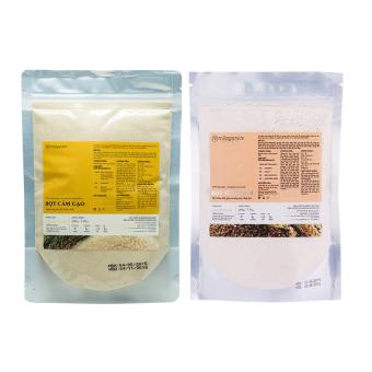 Bộ bột cám gạo Milaganics 200g và bột yến mạch Milaganics 200g